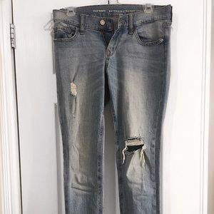 Boyfriend Straight Blue Jeans